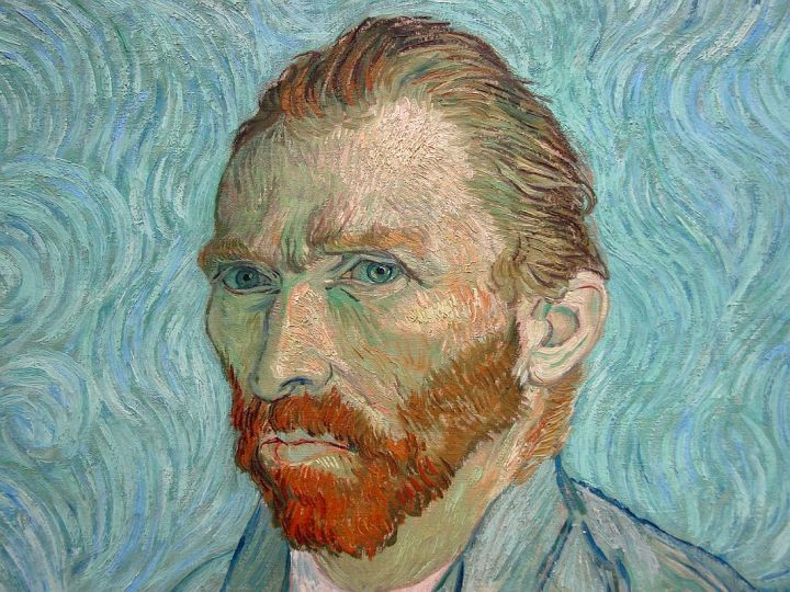 Paris-Musee-DOrsay-Vincent-van-Gogh-1889-Self-Portrait-2-Close-Up